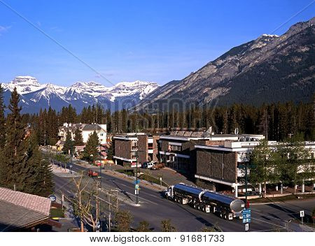 Road through Banff.