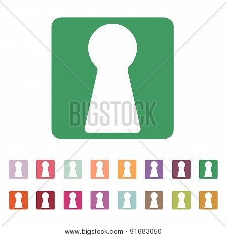 The Keyhole Icon. Lock Symbol. Flat