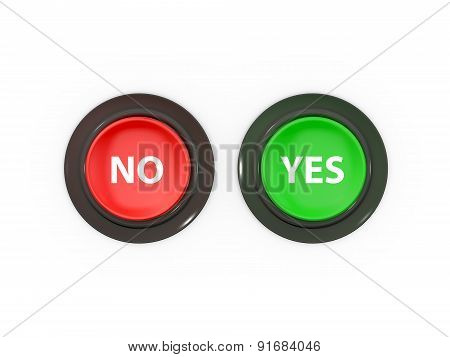No And Yes Buttons