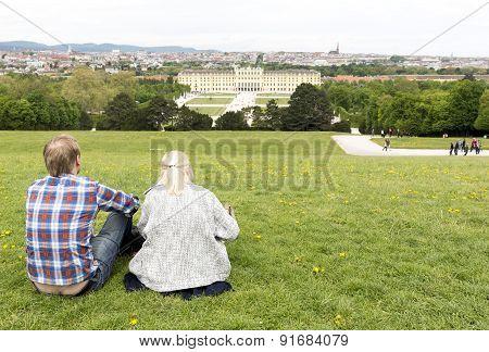 Schonbrunn Palace Couple