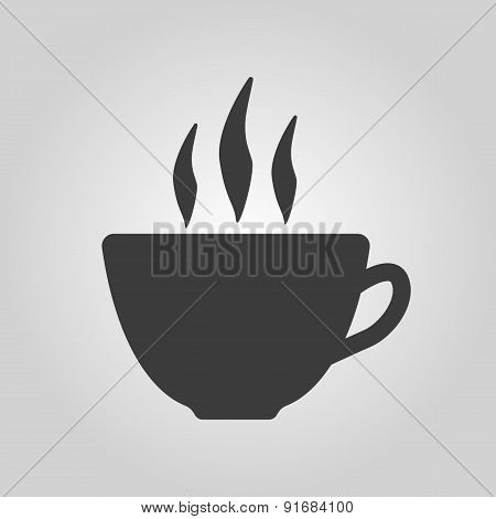 The Coffee And Cup Icon. Tea Symbol. Flat