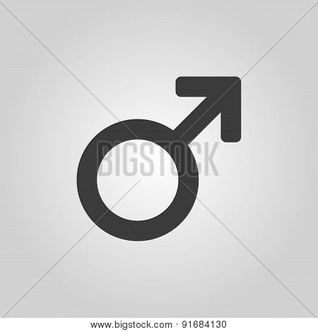 The Male Icon. Man Symbol. Flat