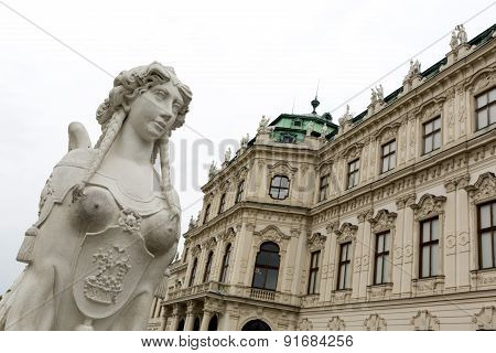 Belvedere Palace Woman Statue