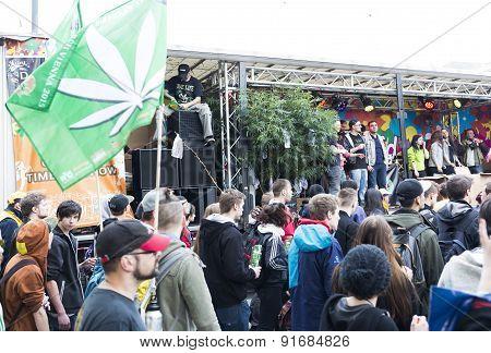 Global Cannabis March Vienna