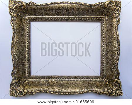 Antique frame white background