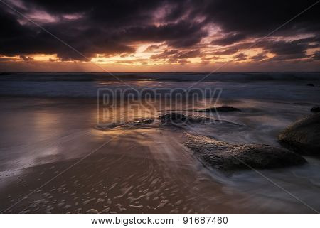 Moody Sunrise Seascape