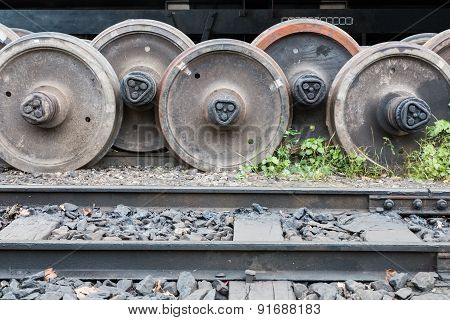 Old Railway Wheels