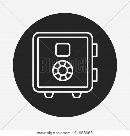 Safety Deposit Box Line Icon