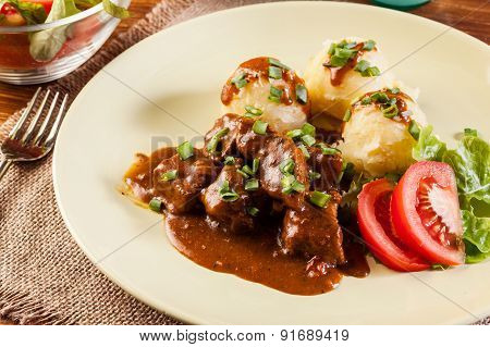 Goulash With Boiled Potatoes