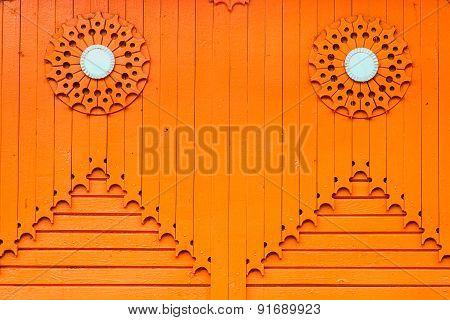 orange wooden vertical plank background texture