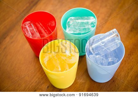 Plastic Glass With Ice