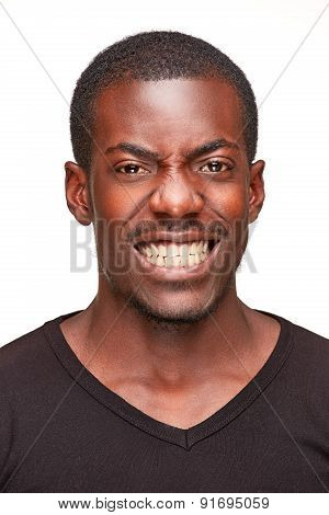 portrait of handsome young black african man