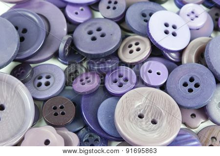 Selection Selection Of Various Purple Buttons