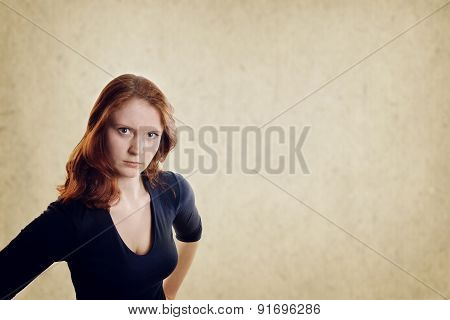 displeased young woman