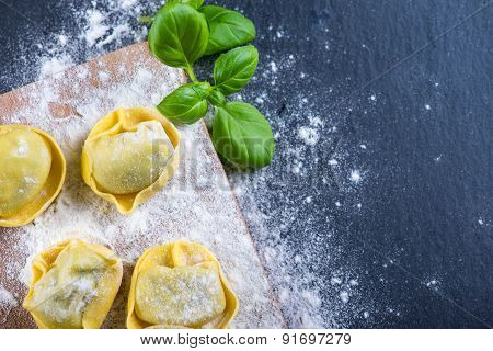 Home Cooking, Freshly Made Ravioli Italian Pasta