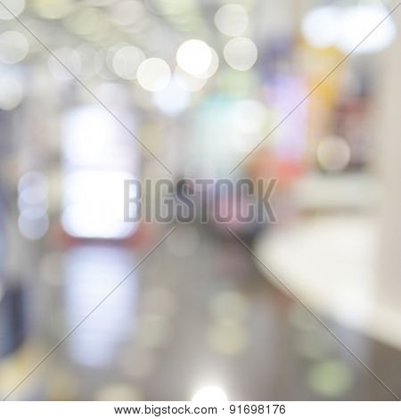 Duty free shop in airport - defocused background