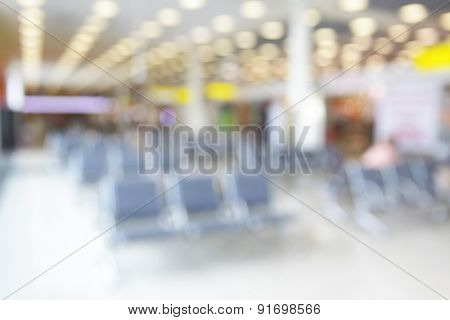 Lounge in airport - defocused blured background