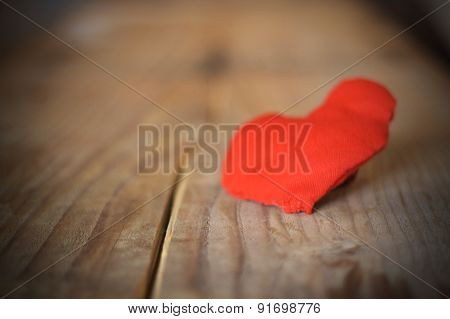 Red Heart With Board