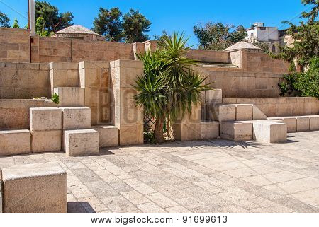 Stone Streets Of Ancient Jerusalem, Israel