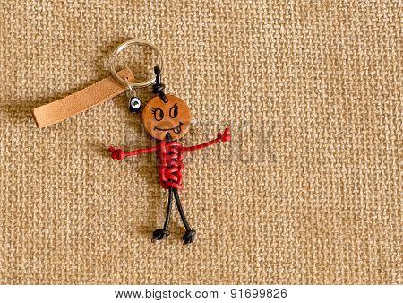 Funny handmade keychain