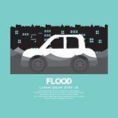 foto of flood  - Car - JPG