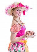 pic of brazilian food  - Blonde girl wearing  - JPG