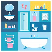 picture of wash-basin  - Flat style vector illustration - JPG