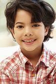 foto of crooked teeth  - Young Hispanic boy portrait - JPG