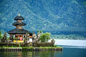 pic of hindu  - Pura Ulun Danu Bratan Hindu temple on Bratan lake Bali Indonesia - JPG