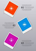 picture of polaroid  - Infographics design with Polaroid frames - JPG