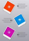 image of polaroid  - Infographics design with Polaroid frames - JPG