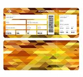 picture of boarding pass  - Airline boarding pass ticket for business class - JPG