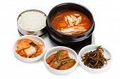 foto of korean  - Beef soup with vegetables and mushrooms - JPG