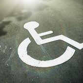 stock photo of disability  - Disabled parking  - JPG