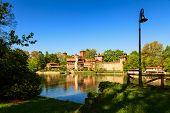 foto of turin  - valentino park in the city of turin - JPG