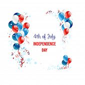 pic of veterans  - Independence day background with balloons - JPG