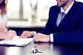 foto of contract  - Signing of contract and keys on table - JPG