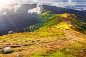 pic of mountain-range  - Chorna hora mountain range - JPG