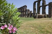 pic of aqueduct  - Roman Aqueduct of Merida Los Milagros. Extremadura Spain. West side