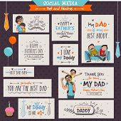 stock photo of occasion  - Social Media Banners and Post for the occasions of Happy Father - JPG