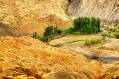 stock photo of jammu kashmir  - Yellow colourful rocks and stones  - JPG