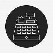 pic of cash register  - Cash Register Line Icon - JPG