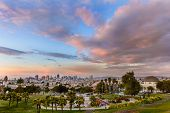 foto of forty-niner  - Beautiful of Dolores Park San Francisco with background Downtown - JPG