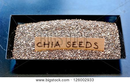Chia Seeds In The Black Bowl