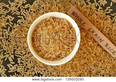 Whole Grain Rice In The Bowl