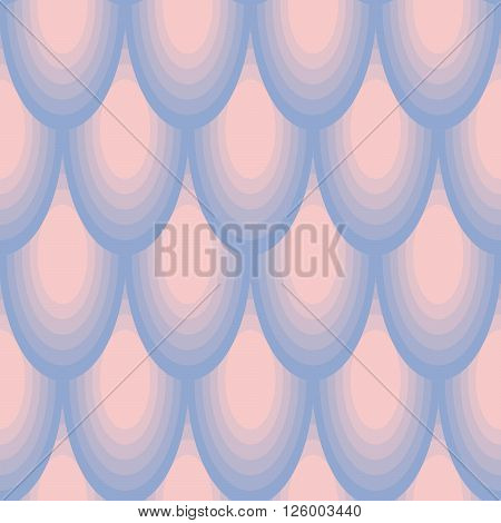 Geometric circle seamless pattern. Abstract simple color transition from rose to violet colors.