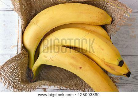 Bananas In The Box And Gunny Cloth
