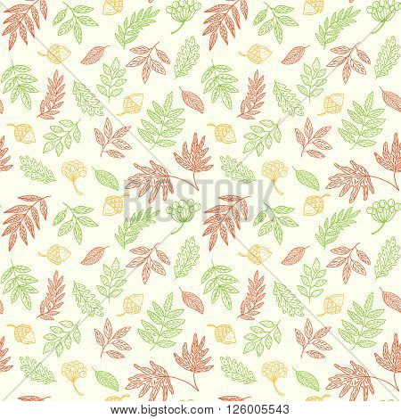 Autumn Leaves Seamless Pattern, can be used for wallpaper, web page background, greeting card, fabric print