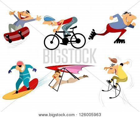 Vector illustration of a six sportsmans set
