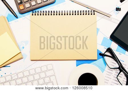 Blank Notepad Business Report